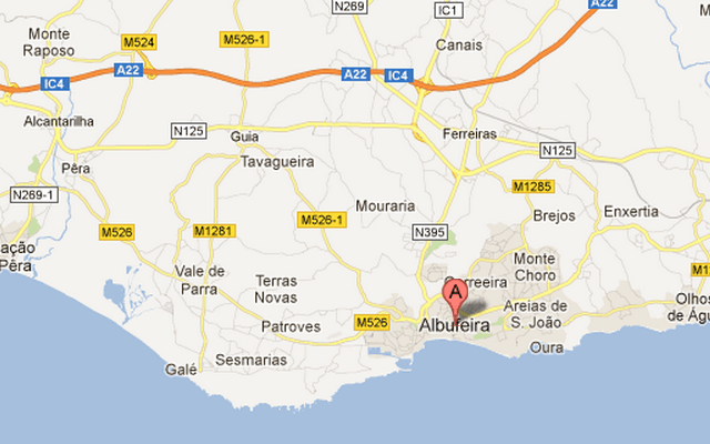 Albufeira city map